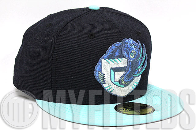 Vancouver Grizzlies Midnight Navy Blue Seaglass Teal White Lunar Force 1 High NS New Era Fitted Hat
