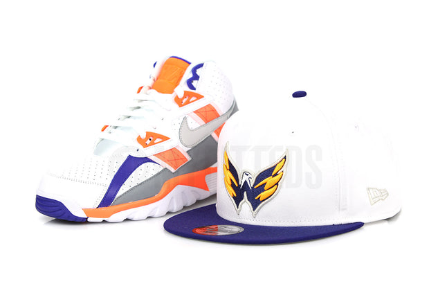 Washington Capitals Glacial White Dark Blue Ink Air Trainer SC Zen Grey Bo Jackson New Era Snapback