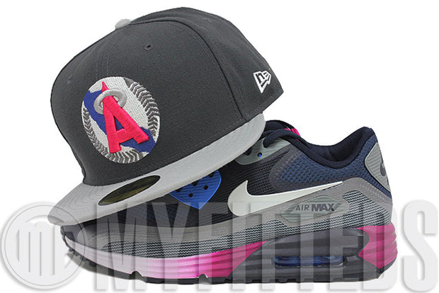 California Angels Carbon Graphite Placid Grey Comet Pink Ink Blue Silver New Era Hat