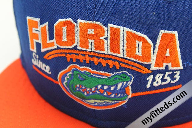 Florida Gators Bright Royal Orangeade Knicks Foamposite New Era 9FIFTY Snapback Hat