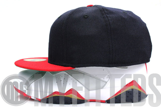 Cleveland Indians Navy Blue Red 1985 Green Brim Retro New Era Hat