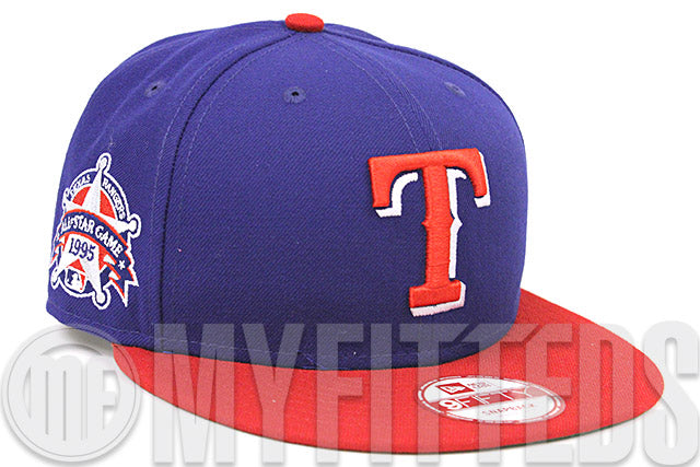 Texas Rangers 1995 MLB All Star Game Royal Blue Scarlet Red White New Era Snapback