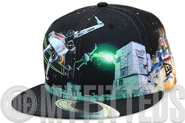 Star Wars Episode VII: The Force Awakens X-Wing Battle All Over Movies Inspired New Era Fitted Cap