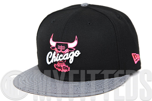 "Chicago Bulls Jet Black Gunmetal Reflect Infrared Bliss Air Jordan V Low ""Neymar Jr"" New Era Snapback Hat"