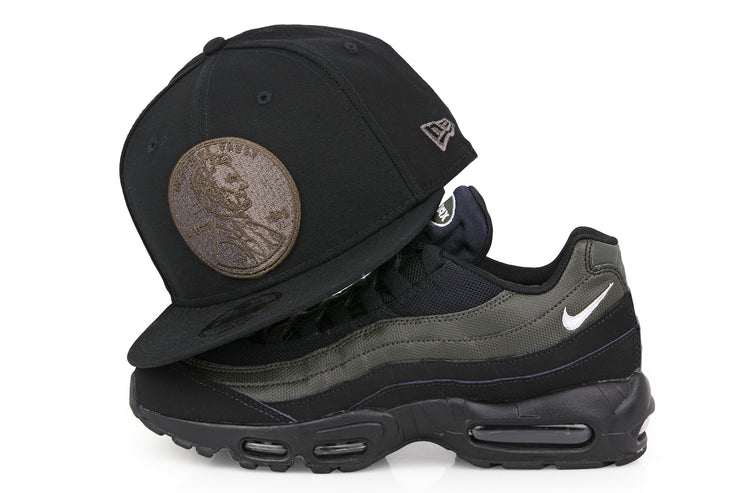 "PENNY 1¢ ONE CENT AIR FOAMPOSITE ONE ""LEGION GREEN"" MATCHING NEW ERA 9FIFTY SNAPBACK HAT"