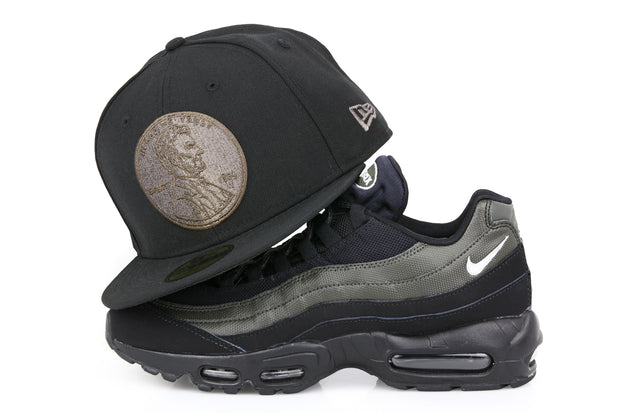 "PENNY 1¢ ONE CENT AIR FOAMPOSITE ONE ""LEGION GREEN"" MATCHING NEW ERA 59FIFTY FITTED HAT"