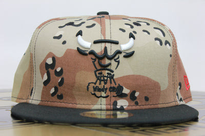61df5105e26c CHICAGO BULLS AIR JORDAN 5 RETRO SUPREME DESERT CAMO MATCHING NEW ERA  59FIFTY FITTED HAT