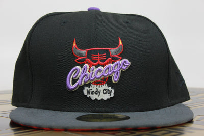 CHICAGO BULLS AIR JORDAN 7 RAPTOR MATCHING NEW ERA 59FIFTY FITTED HAT