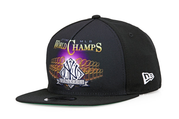 NEW YORK YANKEES VINTAGE BLING 27X MLB WORLD CHAMPS A-FRAME NEW ERA SNAPBACK
