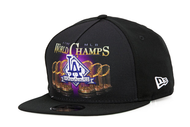 LOS ANGELES DODGERS VINTAGE BLING 6X MLB WORLD CHAMPS A-FRAME NEW ERA SNAPBACK