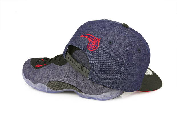 "ORLANDO MAGIC 2 TONE AIR FOAMPOSITE ONE ""DENIM"" MATCHING NEW ERA SNAPBACK"