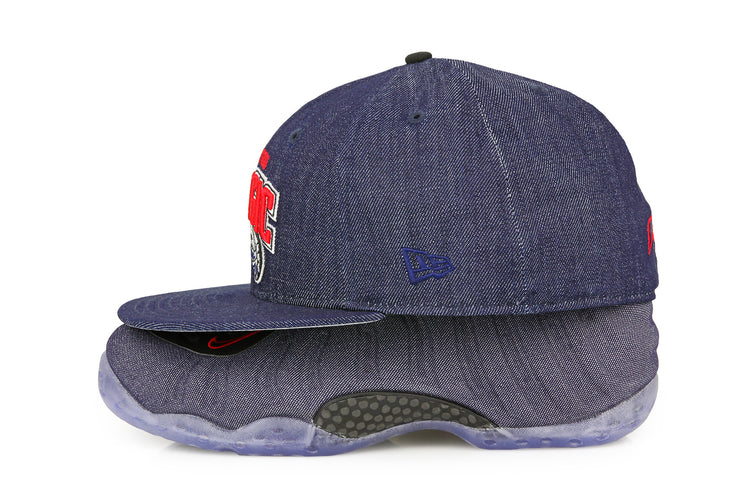 "ORLANDO MAGIC AIR FOAMPOSITE ONE ""DENIM"" MATCHING NEW ERA HAT"