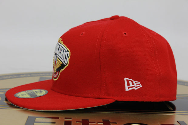 NEW ORLEANS PELICANS REDTOP MADE IN USA NEW ERA 59FIFTY FITTED HAT