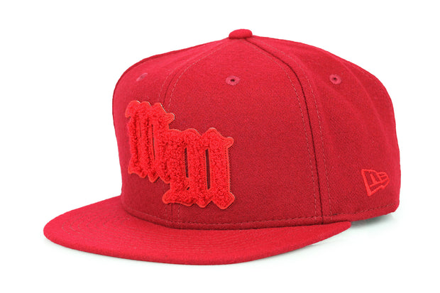 MICKEY MOUSE CRIMSON VARSITY LETTER HIGH CROWN NEW ERA SNAPBACK