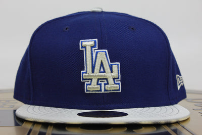LOS ANGELES DODGERS 2 TONE REAR PATCH NEW ERA 59FIFTY FITTED HAT