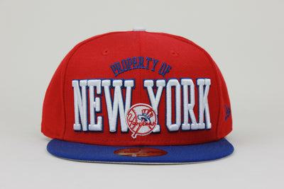 NEW YORK YANKEES 'PROPERTY OF NEW YORK' NEW ERA 59FIFTY FITTED HAT