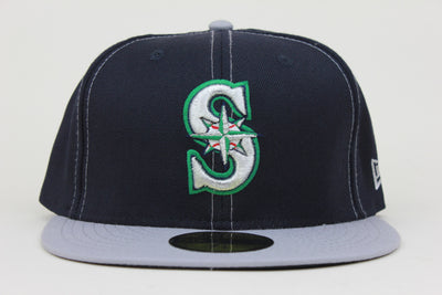 SEATTLE MARINERS GRAY STITCH NEW ERA 59FIFTY FITTED HAT