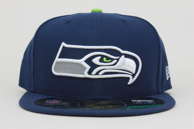 save off 2c987 547ab SEATTLE SEAHAWKS NFL NEW ERA 59FIFTY FITTED HAT
