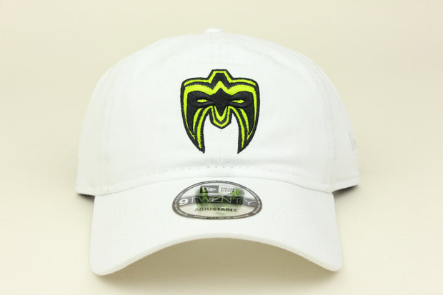 ULTIMATE WARRIOR WHITE WWE NEW ERA 9TWENTY ADJUSTABLE DAD HAT