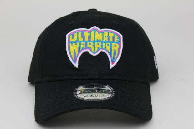 ULTIMATE WARRIOR BLACK WWE NEW ERA 9TWENTY ADJUSTABLE DAD HAT