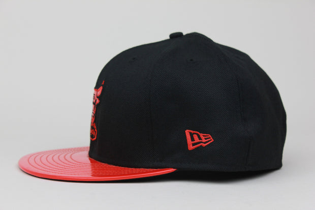 "CHICAGO BULLS SEE THROUGH AIR FOAMPOSITE ONE ""ALBINO SNAKESKIN"" NEW ERA 59FIFTY FITTED HAT"