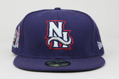NEW HAMPSHIRE FISHER CATS PRIMARIES UNCLE SAM PATCH NEW ERA 59FIFTY FITTED HAT