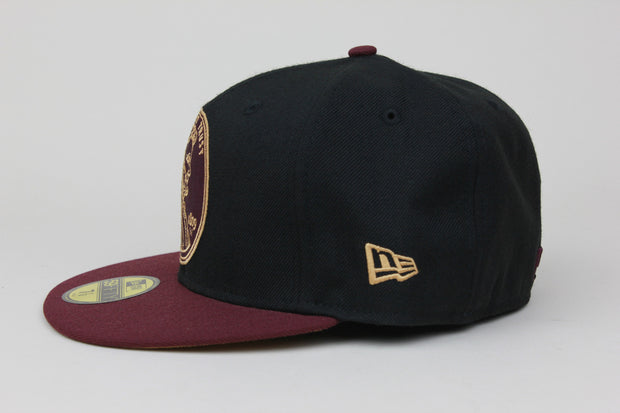 "PENNY 1¢ ONE CENT AIR FOAMPOSITE ONE ""NIGHT MAROON"" MATCHING NEW ERA 59FIFTY FITTED HAT"