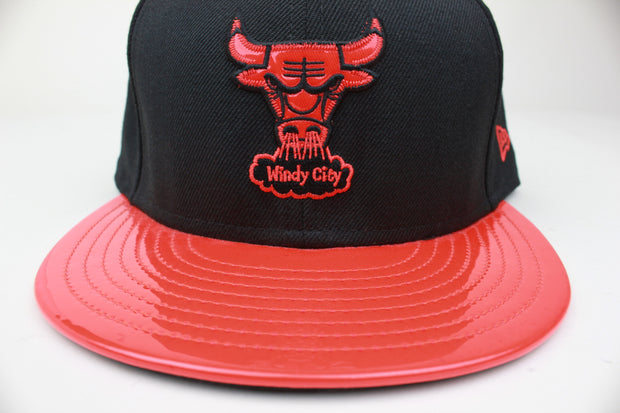 "CHICAGO BULLS SEE THROUGH AIR FOAMPOSITE ONE ""ALBINO SNAKESKIN"" / ""HABANERO"" NEW ERA 59FIFTY FITTED HAT"