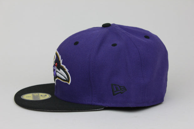 BALTIMORE RAVENS 2 TONE NEW ERA 59FIFTY FITTED HAT