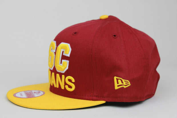 USC TROJANS PATCH NEW ERA 9FIFTY SNAPBACK HAT