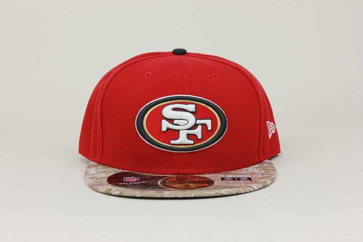 SAN FRANCISCO 49ERS SALUTE TO SERVICE NEW ERA 59FIFTY FITTED HAT