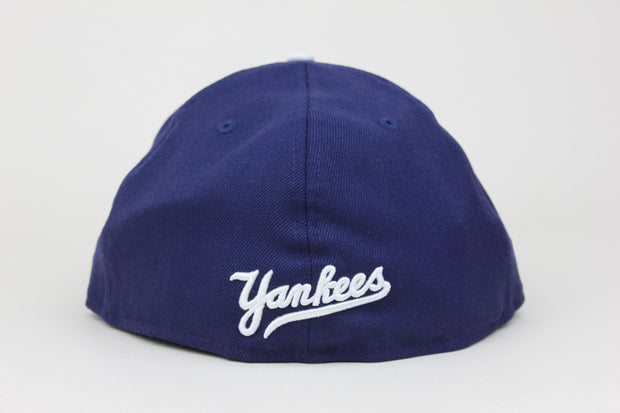 NEW YORK YANKEES LIGHT NAVY WHITE LOGO NEW ERA 59FIFTY FITTED HAT