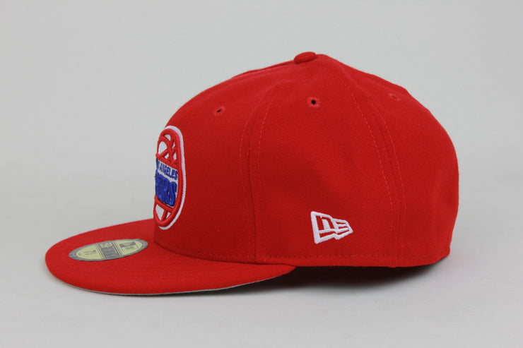 LOS ANGELES CLIPPERS RED MADE IN USA NEW ERA 59FIFTY FITTED HAT