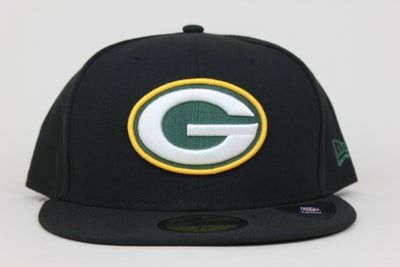 GREEN BAY PACKERS JET BLACK NEW ERA 59FIFTY FITTED HAT
