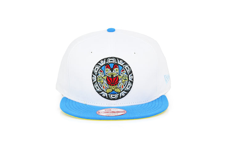 VANCOUVER GRIZZLIES GLACIAL WHITE / CERULEAN BLUE CUSTOM NEW ERA FITTED CAP