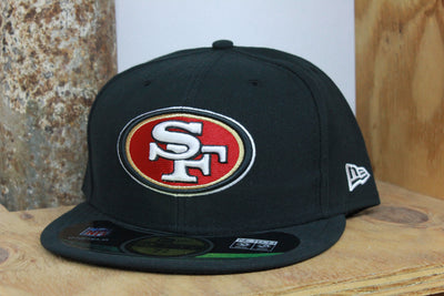 SAN FRANCISCO 49ERS BLACK ONFIELD NFL NEW ERA 59FIFTY FITTED CAP