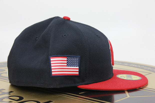 NEW YORK YANKEES 2 TONE USA FLAG NEW ERA 59FIFTY FITTED HAT