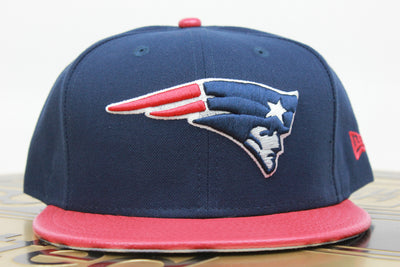 NEW ENGLAND PATRIOTS PEBBLE LEATHER NEW ERA 59FIFTY FITTED HAT