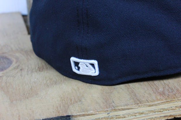 DETROIT TIGERS NAVY WHITE LOGO NEW ERA 59FIFTY FITTED CAP