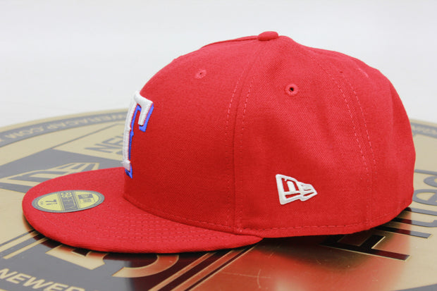 TEXAS RANGERS 2017 OFFICIAL MLB NEW ERA 59FIFTY FITTED HAT