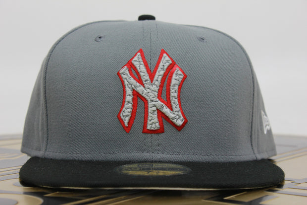 NEW YORK YANKEES ELEPHANT AIR JORDAN 3 STEALTH NEW ERA 59FIFTY FITTED HAT