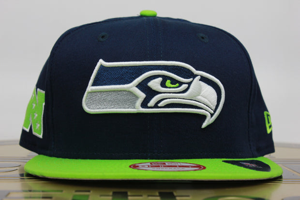 SEATTLE SEAHAWKS NFC NEW ERA 9FIFTY MEDIUM-LARGE SNAPBACK HAT