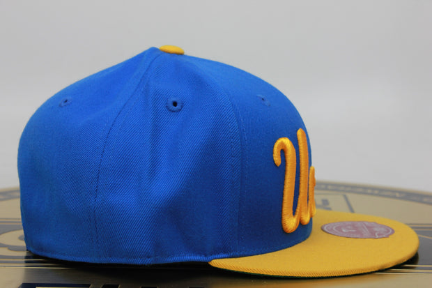 University of California Los Angeles UCLA Blue Yellow Mitchell /& Ness Fitted Hat