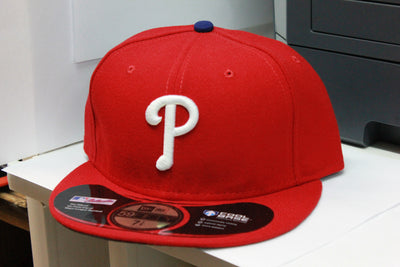 PHILADELPHIA PHILLIES RED ON FIELD NEW ERA 59FIFTY FITTED CAP