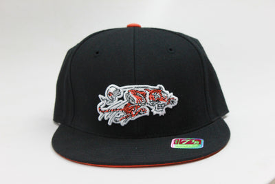 CINCINNATI BENGALS BLACK MITCHELL & NESS FITTED HAT