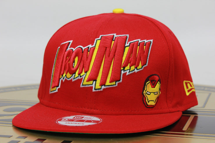 MARVEL IRON MAN NEW ERA 9FIFTY SNAPBACK HAT