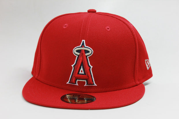 ANAHEIM ANGELS ON-FIELD NE FLAG NEW ERA 59FIFTY FITTED CAP