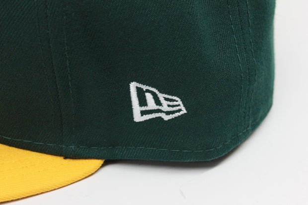 OAKLAND ATHLETICS A'S ON-FIELD NE FLAG NEW ERA 59FIFTY FITTED CAP