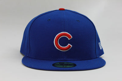 CHICAGO CUBS ON-FIELD NE FLAG NEW ERA 59FIFTY FITTED CAP