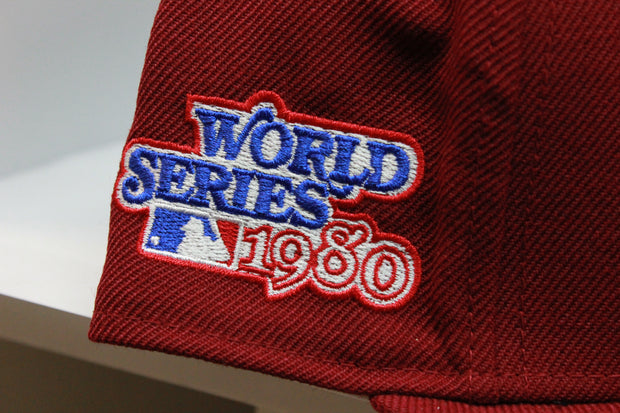 PHILADELPHIA PHILLIES 1980 WORLD SERIES QS NEW ERA FITTED CAP